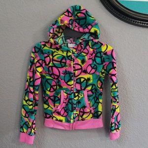Cute Fleece Hooded Zipup Sweater